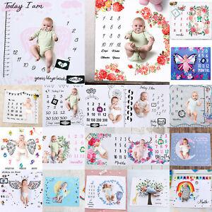 Meilenstein-Fotografie-Neugeborene-Baby-Decke-monatliche-Blumen-Zahlen-Foto-Prop