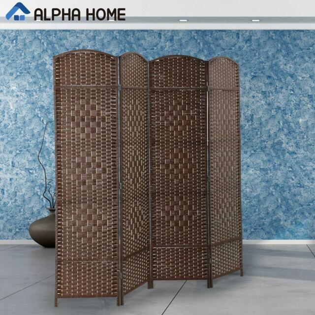 Awesome Alpha Home 4 Panel Room Divider Handcrafted Wood Framed Folding Privacy Screen Download Free Architecture Designs Scobabritishbridgeorg
