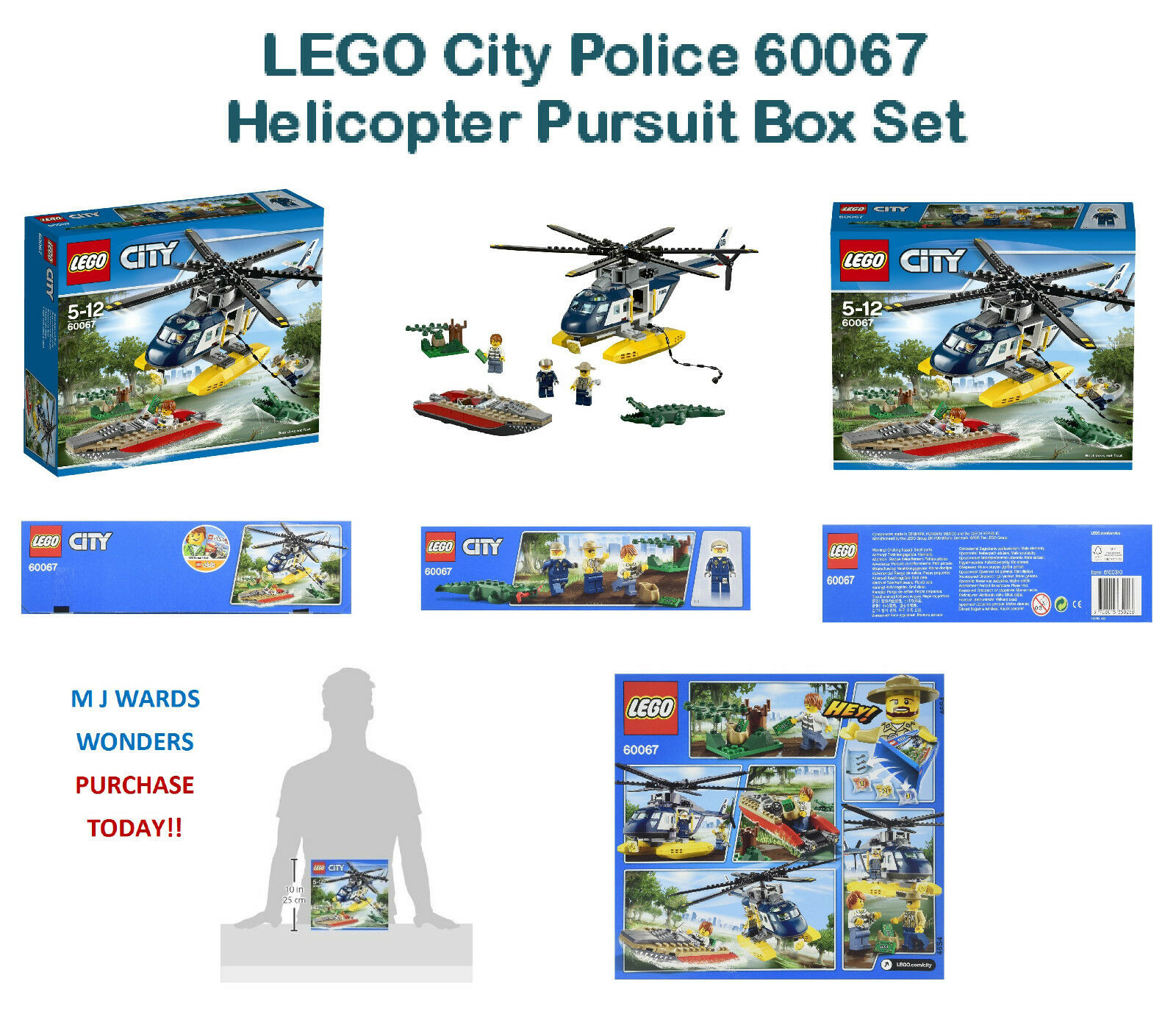 LEGO City Police 60067 - Helicopter Pursuit Box Set  PURCHASE TODAY