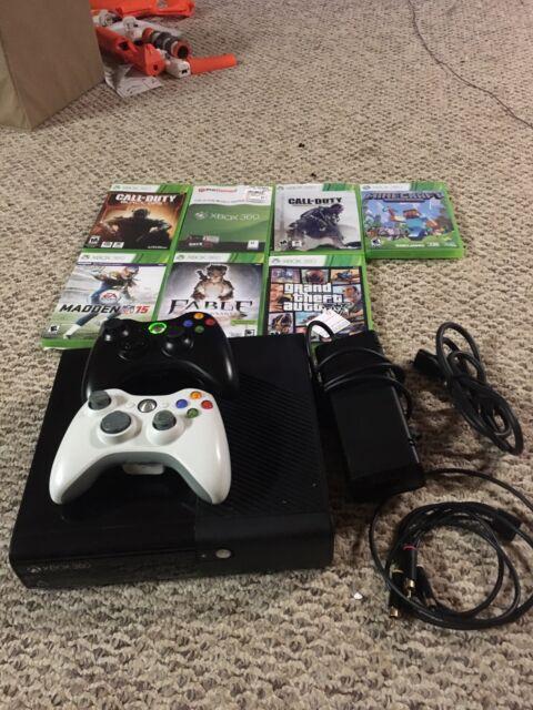 Microsoft Xbox 360 E Fable and Plants vs Zombies: Garden Warfare 512GB  Black Console