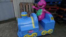 BARNEY TRAIN COIN OPERATED KIDDIE RIDE , FULLY WORKING