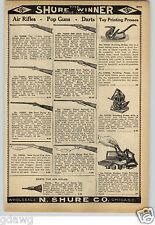 1913 PAPER AD Daisy Air Rifle BB Gun Dart Cork Pop Gun Rifles