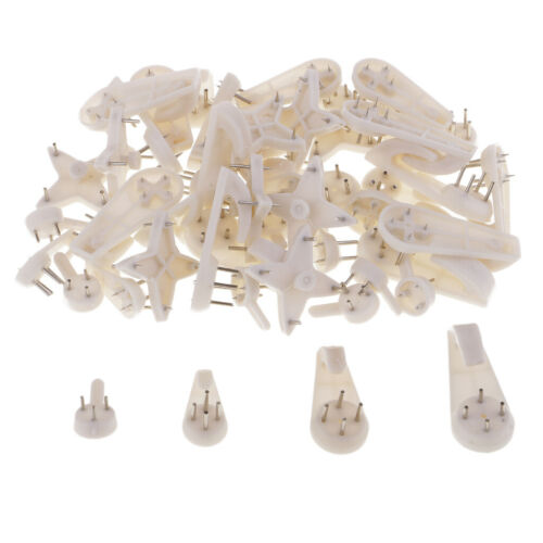 50x Hard Wall Hanging Hooks Heavy Duty Picture Photo Hook Strong Nail Fixing