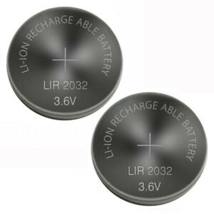 New 2x Original LIR2032 CR2032 2032 Rechargeable Lithium Coin Cell Battery 3.6V