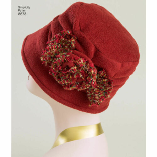 Simplicity SEWING PATTERN 8573 Misses/' Retro Flapper-Style Hats S,M,L