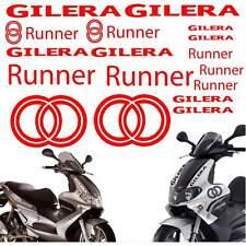 SET ADESIVI CARENA CARENE ROSSO GILERA RUNNER STICKERS LOGO GRAFICA