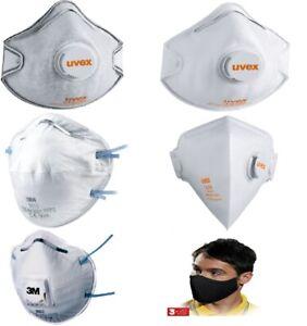 Mundschutz 3M Uvex FFP 2 FFP2  6922 8810 VFlex 9152 2220 Atemschutzmaske  Ventil