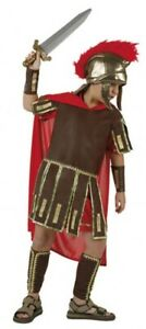 Fiable Garçons Romain Gladiateur Soldat Guerrier Fancy Dress Costume Outfit 3-12 Ans-afficher Le Titre D'origine