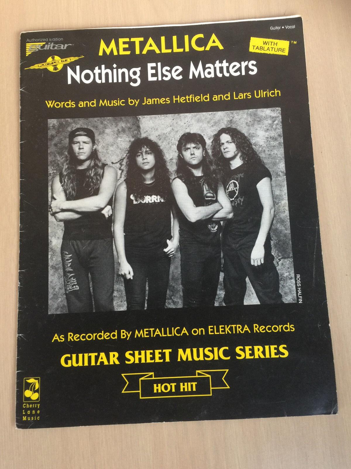 METALLICA rare GUITAR SHEET MUSIC 1991 tablature NOTHING ELSE MATTERS  lars
