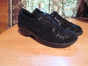 "Clothing, Shoes & Accessories Womens Boc Born Concepts Black ""lace"" Comfort Career Slip On Slides Shoes Sz 8.5"