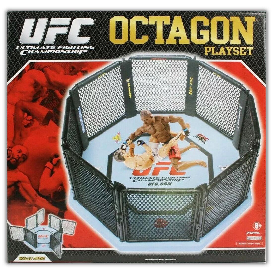 UFC OCTAGON PLAYSET Jakks Pacific azione cifras DAMAGED PACKAGING MMA WWE AEW