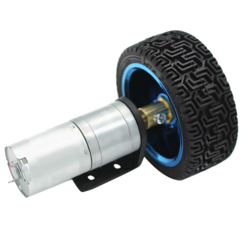 12V 170RPM DC Electric Motor Gear Reducer with Wheel Kit for Smart Car