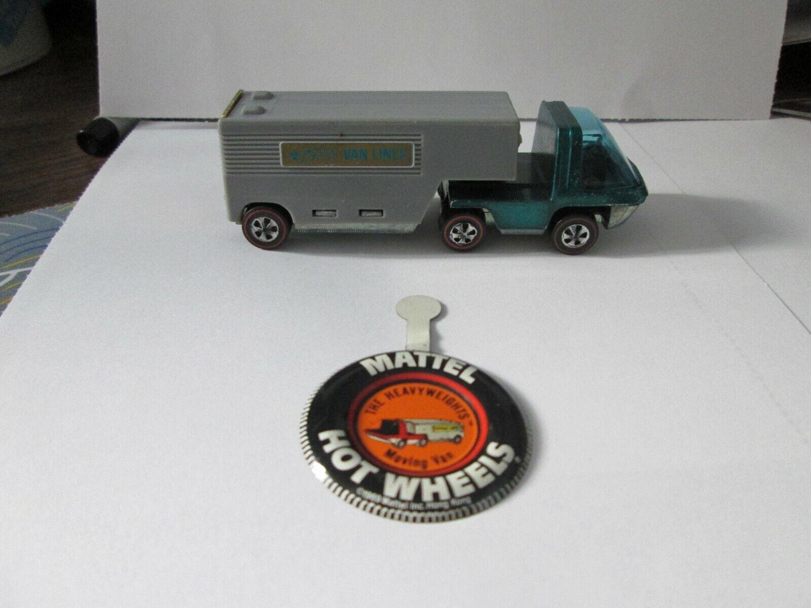 Hot Wheels Redline Early run w smooth back door - Heavyweights Van Lines w Badge