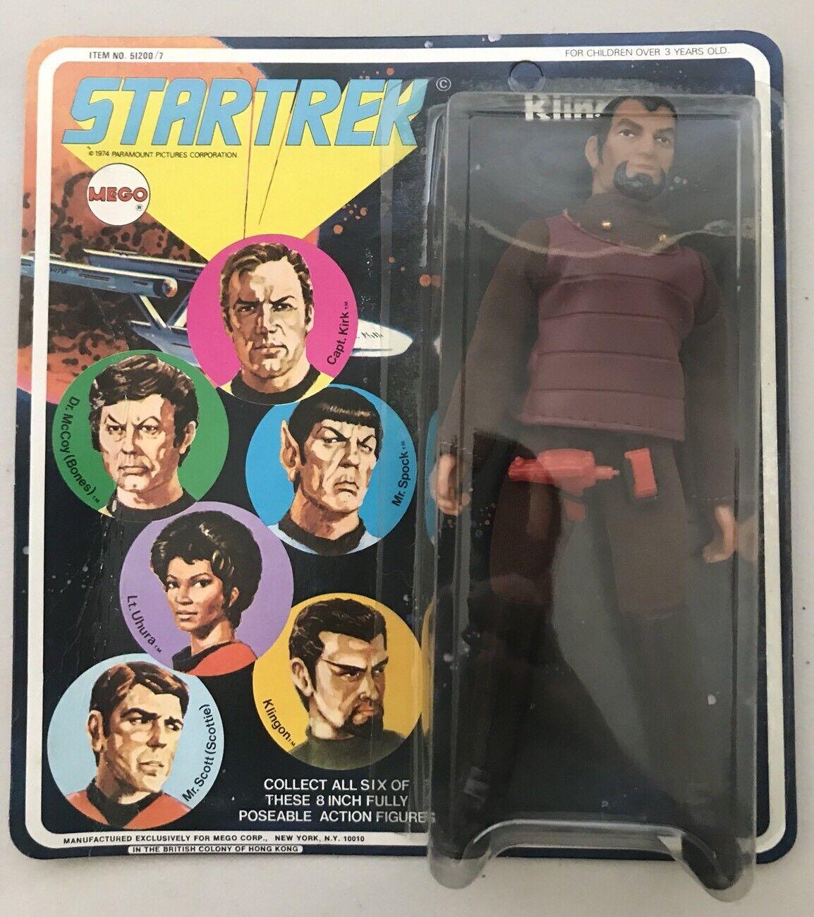 MEGO Star Trek  KLINGON 8  Figure SEALED In Box 1974