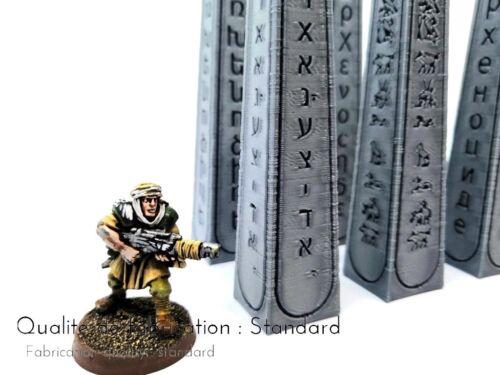 Obélisques x6 décor scenery Warhammer 40/'000 Age of Sigmar Quest LOTR
