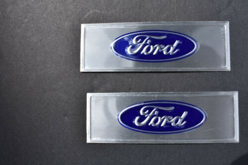 1965 66 67 68 Mustang Coupe /& Fastback Door Sill Scuff Plates Pair Blue Decals