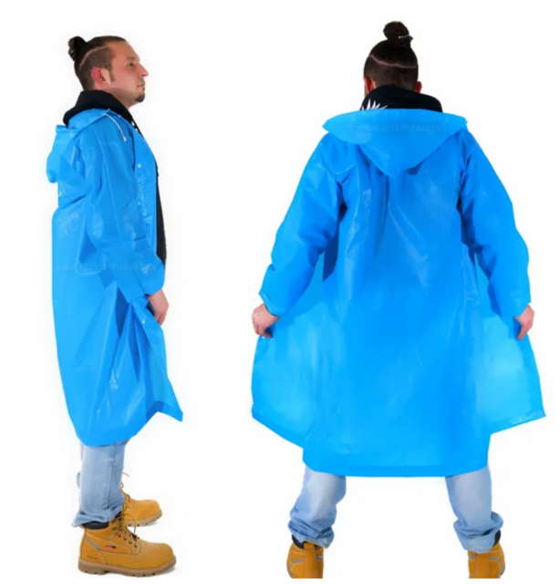 Kids Waterproof Jacket Hooded Raincoat Rain Coat Poncho Rainwear Protector WL