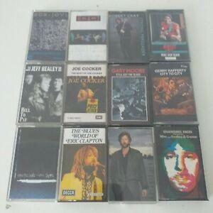 Cassette Tapes Bundle Joblot x 12 1980s Clapton Bon Jovi 10CC Robert Cray Heart