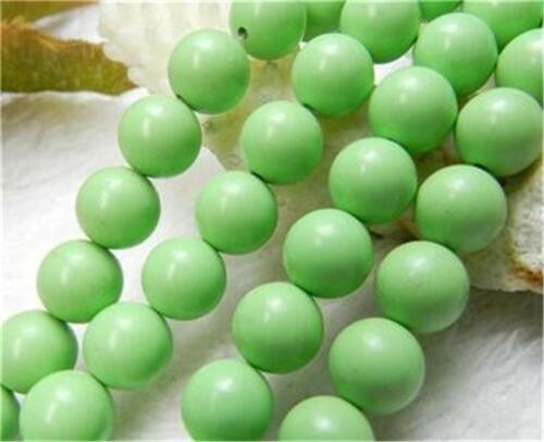 8mm Apple Green Turquoise Gemstone Round Loose Bead 15/'/'##CH316