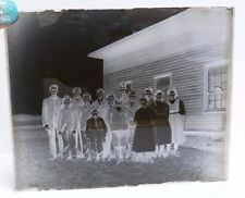 VTG LOT OF 6 GLASS NEGATIVES: OLD SCHOOLHOUSE W/ TEACHERS & STUDENTS PHOTO N7
