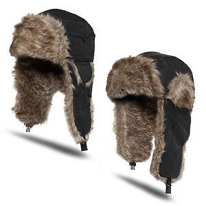 gt-URBAN-CLASSICS-lt-TRAPPER-HAT-Fell-Muetze-Polarmuetze-Russen-Bomber-Tschapka-Ski