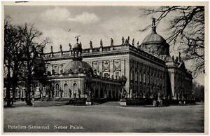 POTSDAM-Brandenburg-alte-Postkarte-1942-Neues-Palais-Partie-Schloss-Sanccouci