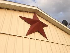 34''Rusted*Metal*Star*Barn*Old*Roof*Rusty*Sign*Red*