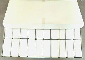Lot de 20 boîtes blanches cartonnées neuves 78x97x40 mm