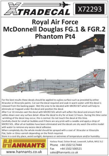 Xtradecal 1//72 McDonnell-Douglas FG.1//FGR.2 Phantom Part 4 # 72293