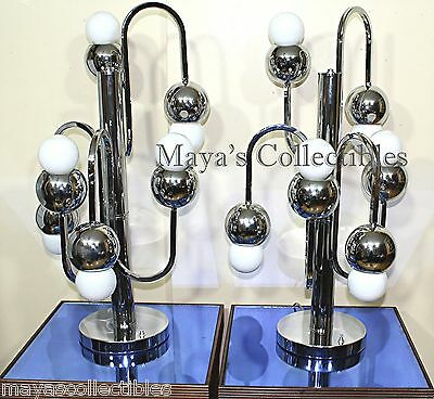 Torino italy chrome table lamp mid century ball space age for Logos space torino