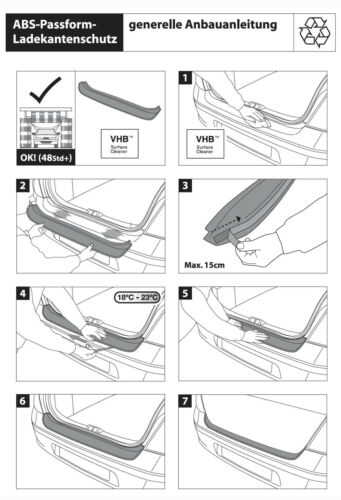 Original RGM Ladekantenschutz ABS schwarz Audi A6 C7 Avant auch S-Line 2016-2018