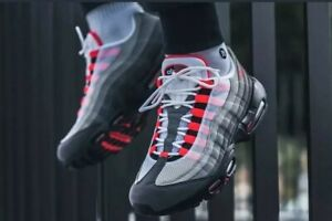 Details about Nike Air Max 95 OG Solar Red Granite Men'sWomen's Trainers Size UK5*AT2865 100*