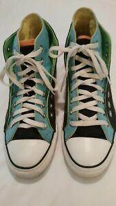 Details about Converse Chuck Taylor All Star Neon Double Upper Men 7 Women 9 Hi Top Shoes GUC