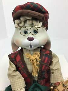 House-Of-Lloyd-Grandpa-Lloyd-Porcelain-Rabbit-Shelf-Sitter-Christmas-Decoration
