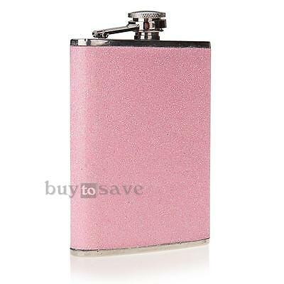 8oz Stainless Steel Alcohol Drink Liquor Hip Flask Gift Pink