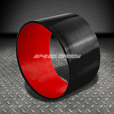 Black /& Red 3.5 Straight Turbo//Intercooler//Intake Piping Coupler Silicone Hose