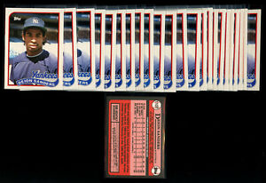24 Lot 1989 Topps Traded Deion Sanders Rookie 110T RC New York Yankees