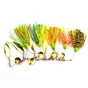 1x-Fishing-Hard-Spinner-Lure-Spinnerbait-Pike-Bass-16-3g-0-57oz-Helpful-MW