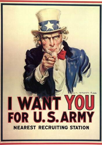 US Army /'I Want You/' Giant 1 Piece  Wall Art Poster V103