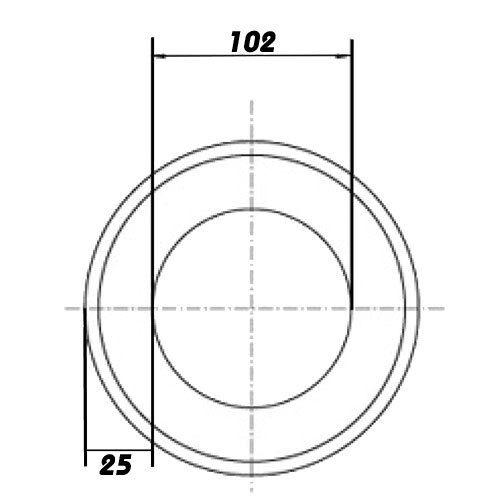 Isolation Rohrisolierung Wärmeisolierung Lüftungsrohr dalap TIN Ø100//10 M 45555