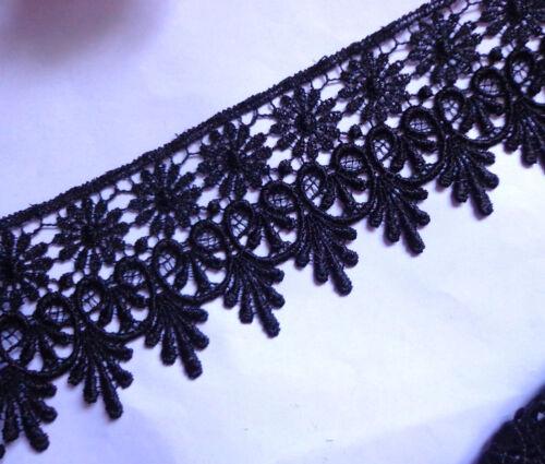 """Venise lace trim-black-2 3//4/"""" width 1 yard and 25 inch cut"""