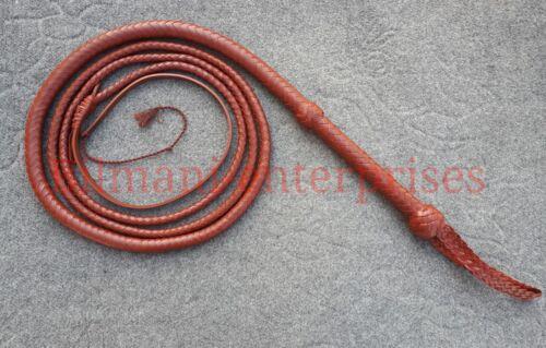 8 ft (environ 2.44 m) long 12 Tressé Authentique Kangaroo Cuir Heavy Duty Fouet Custom Whip
