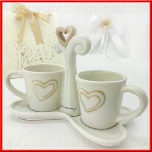 Bomboniere Da Matrimonio.Tazzine Da Caffe 2 Pezzi Con Vassoio Porcellana Harmony