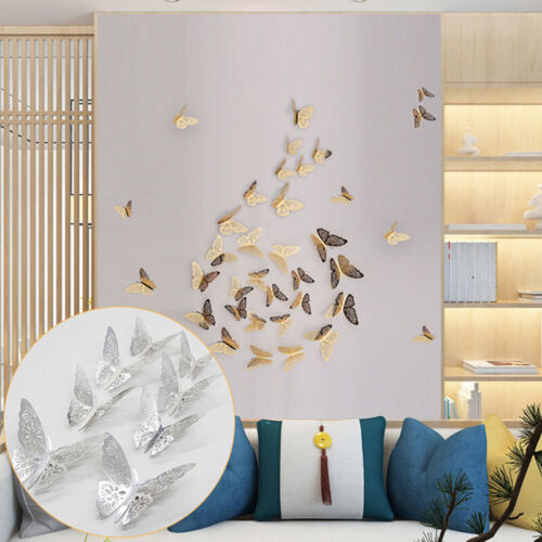12pcs//set 3D Wall Stickers Butterfly For Home Room DIY Background Decorations
