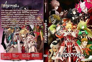 Fate Apocrypha, 25 épisodes, 4 DVD, 1 Box anglais et japonais Audio