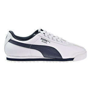 Image is loading Puma-Roma-Basic-Men-039-s-Shoes-White- b63161fe0