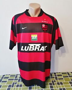 3c955238b Image is loading Vintage-CR-Flamengo-Soccer-Jersey-L-Authentic-Nike-