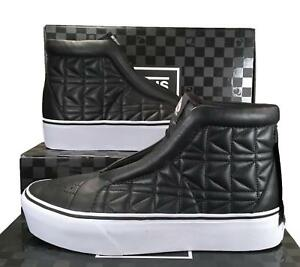 Vans-x-Karl-Lagerfeld-Sk8-Hi-Laceless-Platform-Sneakers-Quilted-Leather-BLACK