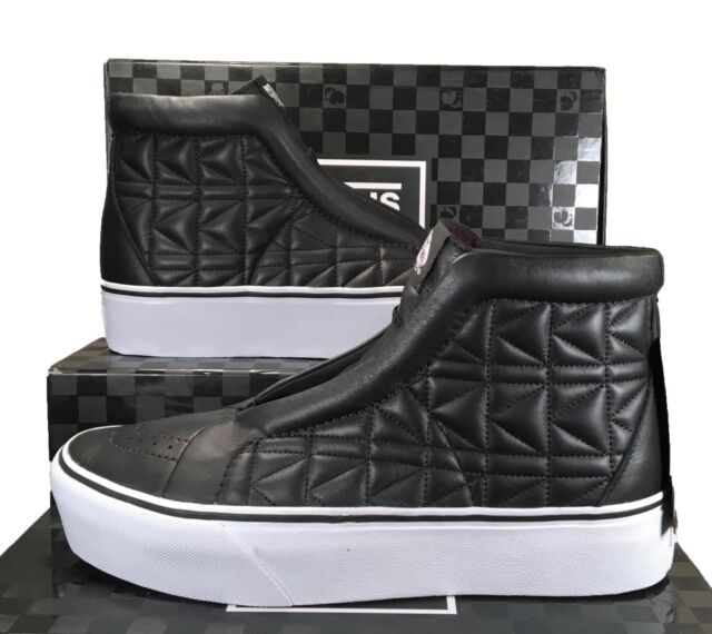 5c0fca9479 Vans x Karl Lagerfeld Sk8-Hi Laceless Platform Sneakers Quilted Leather  BLACK