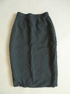 Vivienne-Westwood-Gold-Label-Wool-Pencil-Skirt-S-UK-8-Dark-Blue-Navy